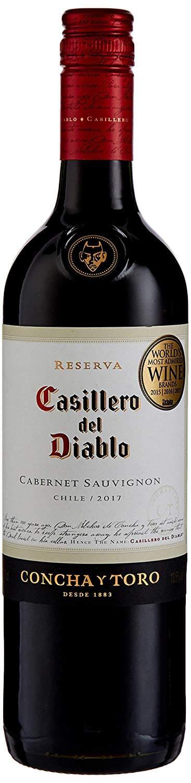 Bottle of Casillero del Diablo Cabernet Sauvignon Wine 75 cl