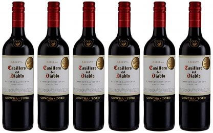 Case of Casillero del Diablo Cabernet Sauvignon Wine 6 x 75 cl bottles